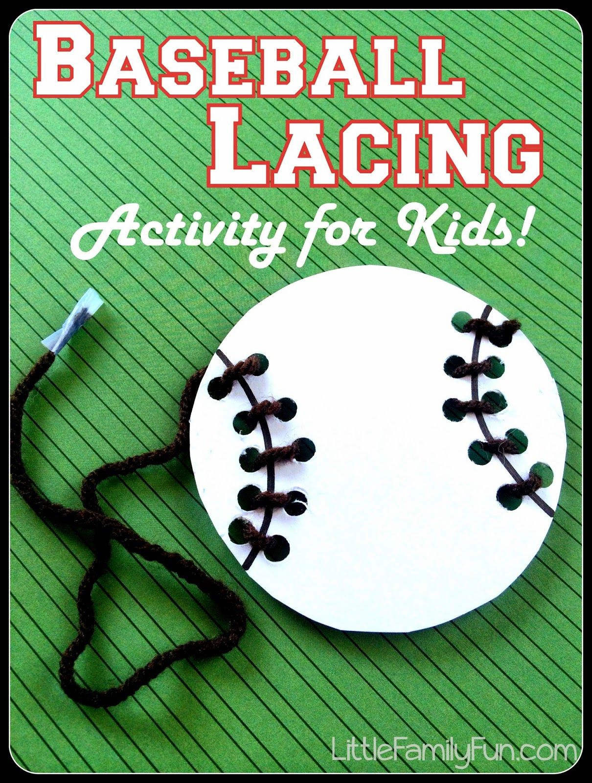 Baseball Lacing Activity For Kids Great Fine Motor Skills Practice Baseball Preschool Activity