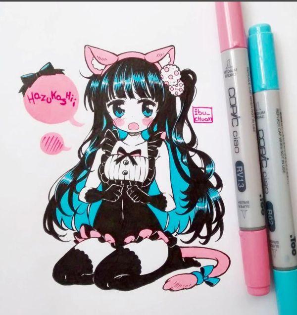 Pin Dia Sofia Copic Marker Chibi Arikukko Anime And Drawings