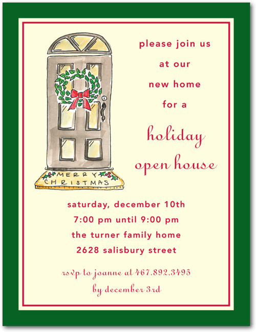 Holiday Open House Studio Basics Holiday Party Invitations In