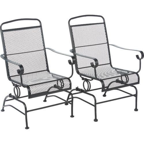 Outdoor Steel Mesh Patio Rocking Chair Set Mosaic https