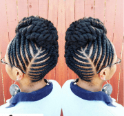 flat twist updo style official