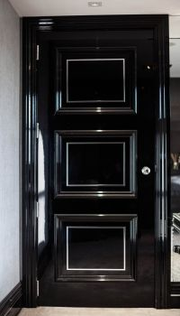 black bedroom doors | Bedroom door | Dreama Casa ...