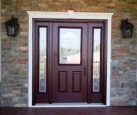 front door with sidelights