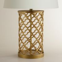 Distressed Gold Moroccan Table Lamp Base | Moroccan table ...
