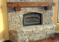 Archaic Paint Stone Fireplace Architecture Fair Stone ...
