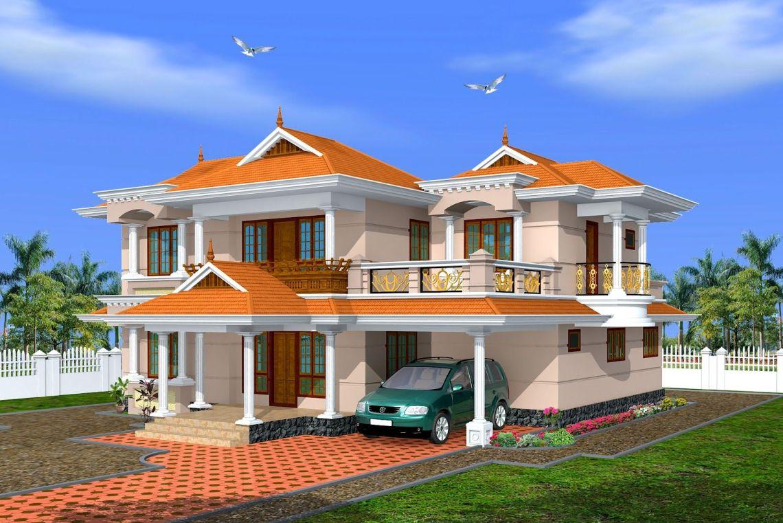 Indian House Small Exterior Parapet Design