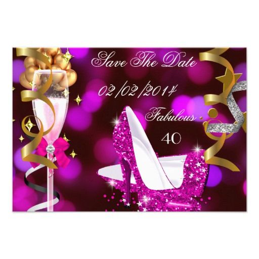 Save Date Cards 40th Birthday