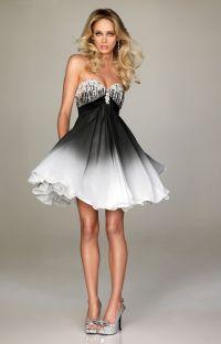 Short Prom Dresses Ideas | White ombre, Short prom dresses ...