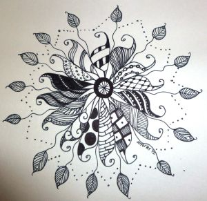 doodle zen easy zentangle patterns doodles drawings zentangles simple draw designs flower cool tangle drawing dangle visit inspiration flowers
