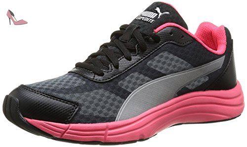 puma wns expedite chaussures de sports exterieurs femme gris turbulence black