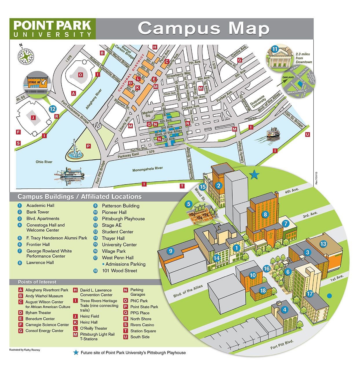 Hofstra University Campus Map