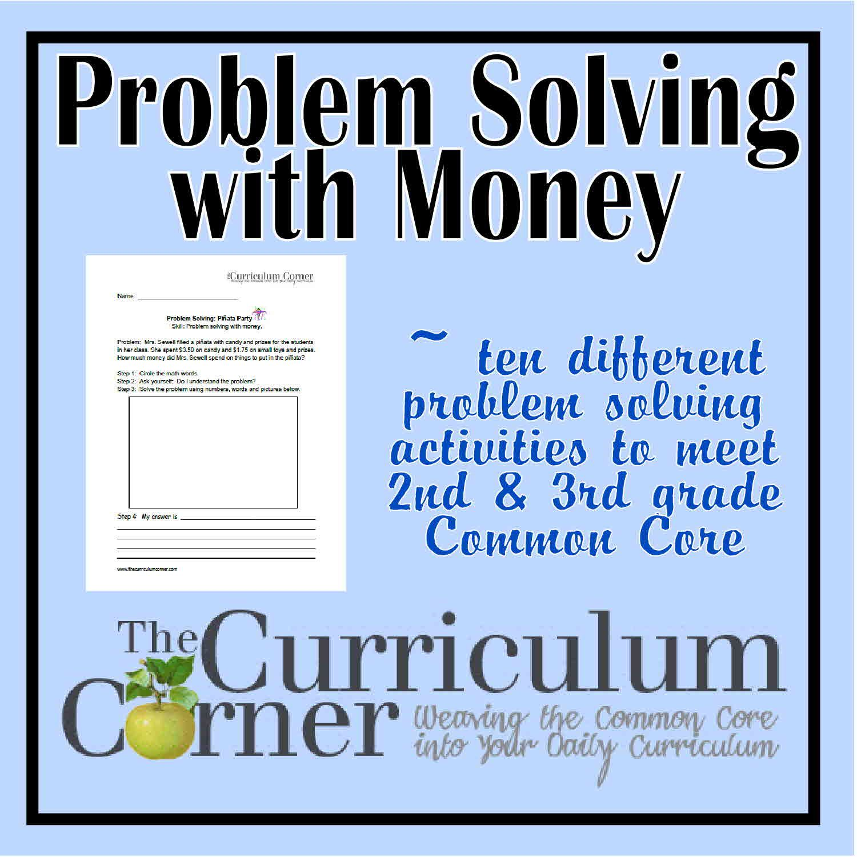 Money Problems Worksheet Math Grade 3