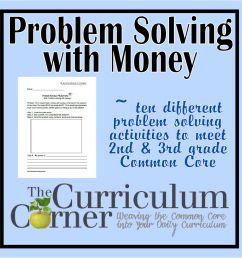 Money problem solving questions grade 3 [ 1500 x 1500 Pixel ]