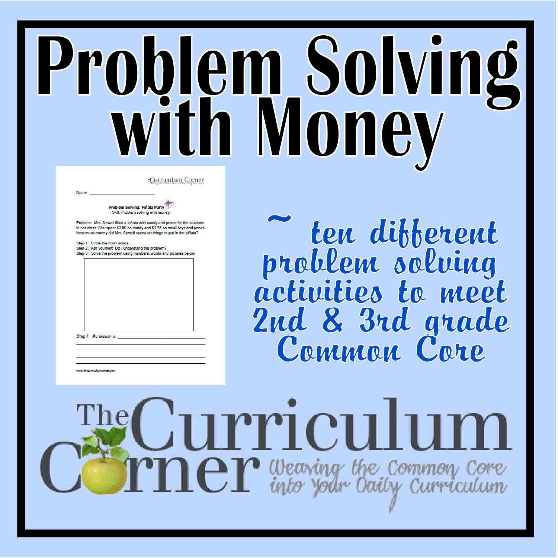 hight resolution of Money problem solving questions grade 3