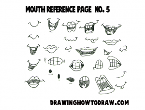 Step 05 mouths reference 300x228 Drawing Cartoon