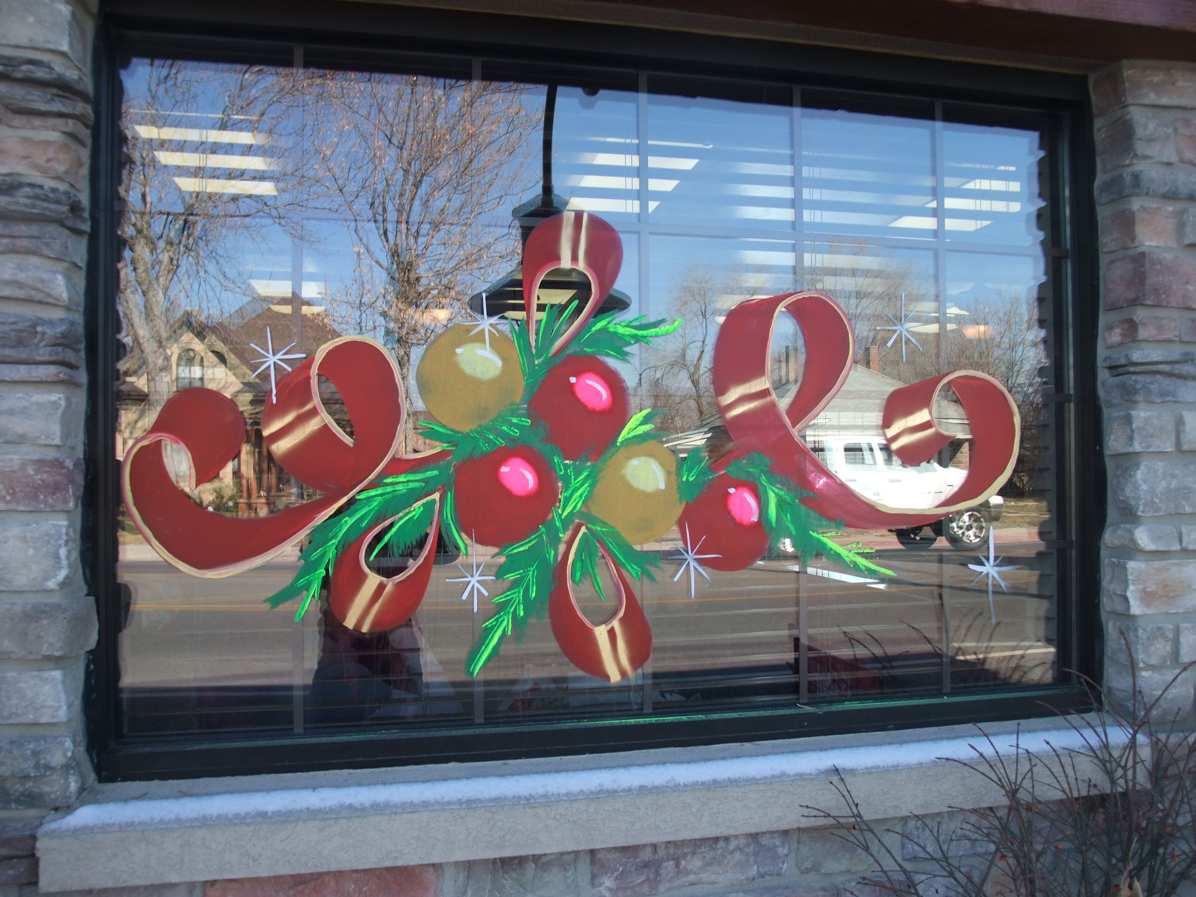 Holiday Window Painting Ideas