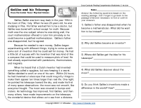 Reading Comprehension Worksheets | Third Grade - Galileo ...
