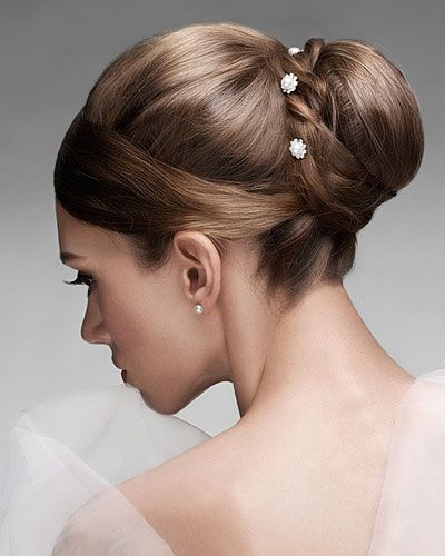 Brautfrisur Dutt Hoch 400×500 Haare Pinterest