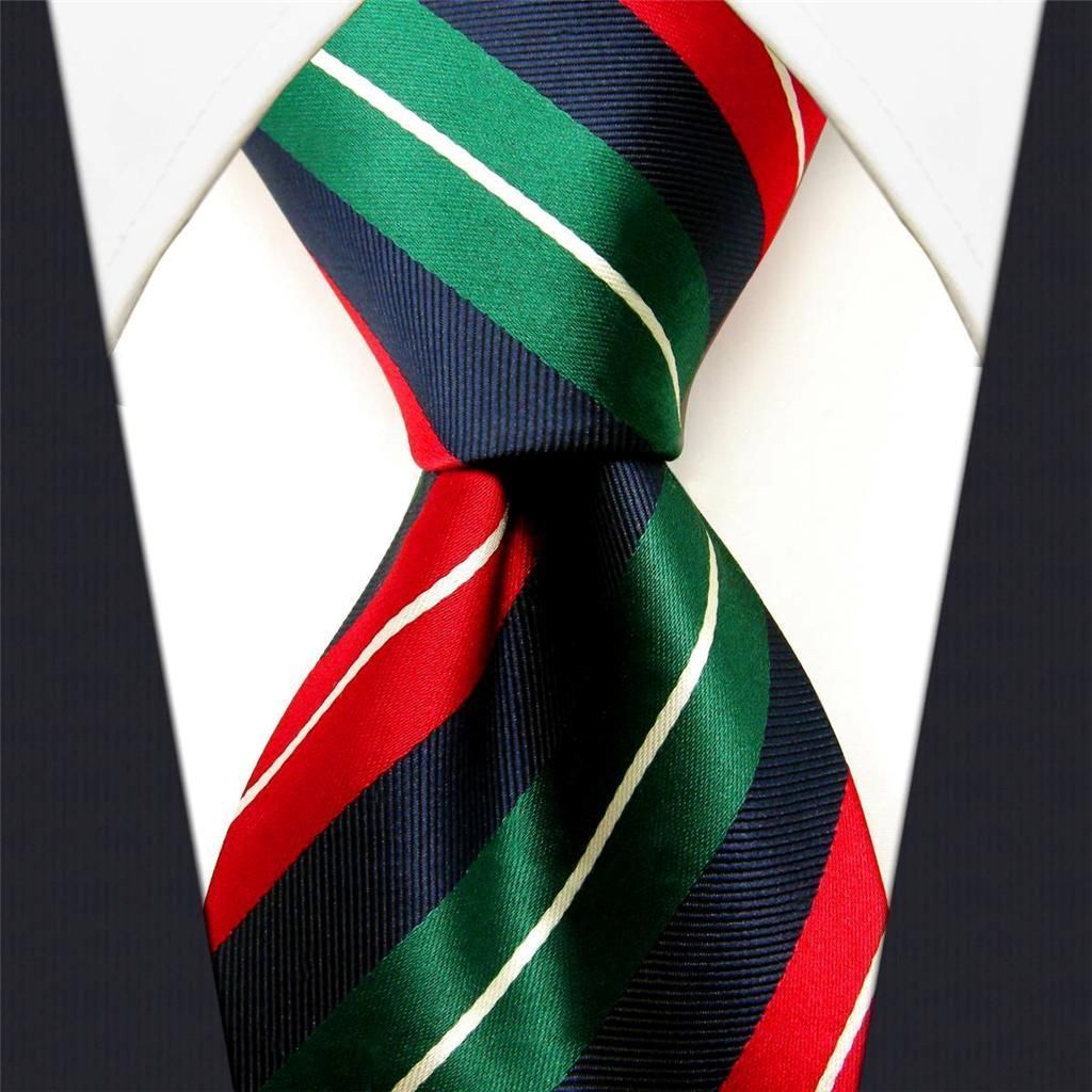 Red / Green / Blue Tie Stripe Tie Design. #Necktie #