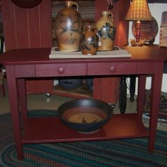 Country Primitive Sofa Tables Chesterfield Fabric Bed Red Table Decor Ideas Pinterest