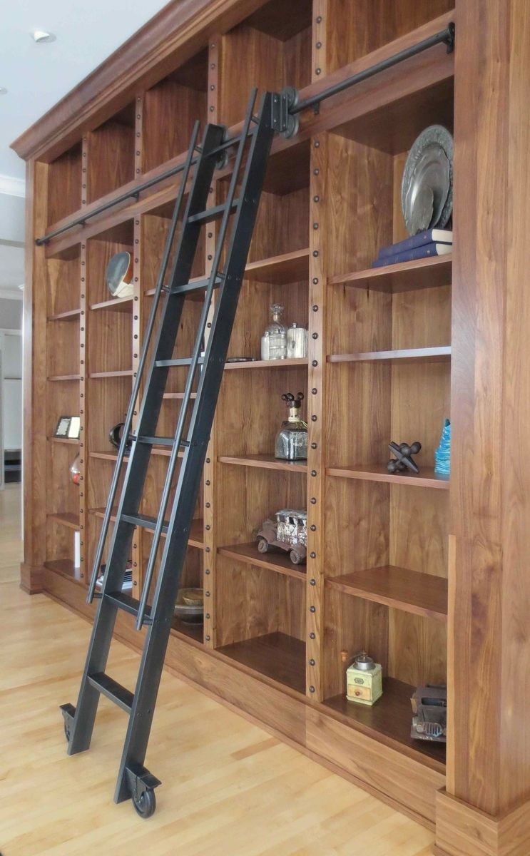 Rolling Ladder Bookshelf