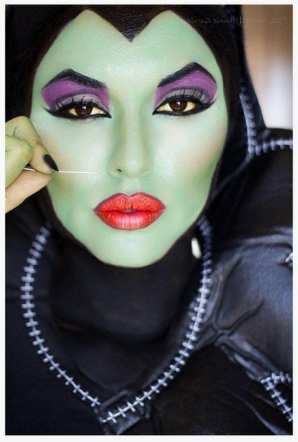 comment faire un maquillage de sorciere de halloween