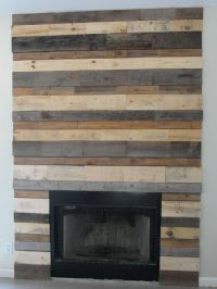 My fireplace surround- made out of pallets & FREE ...