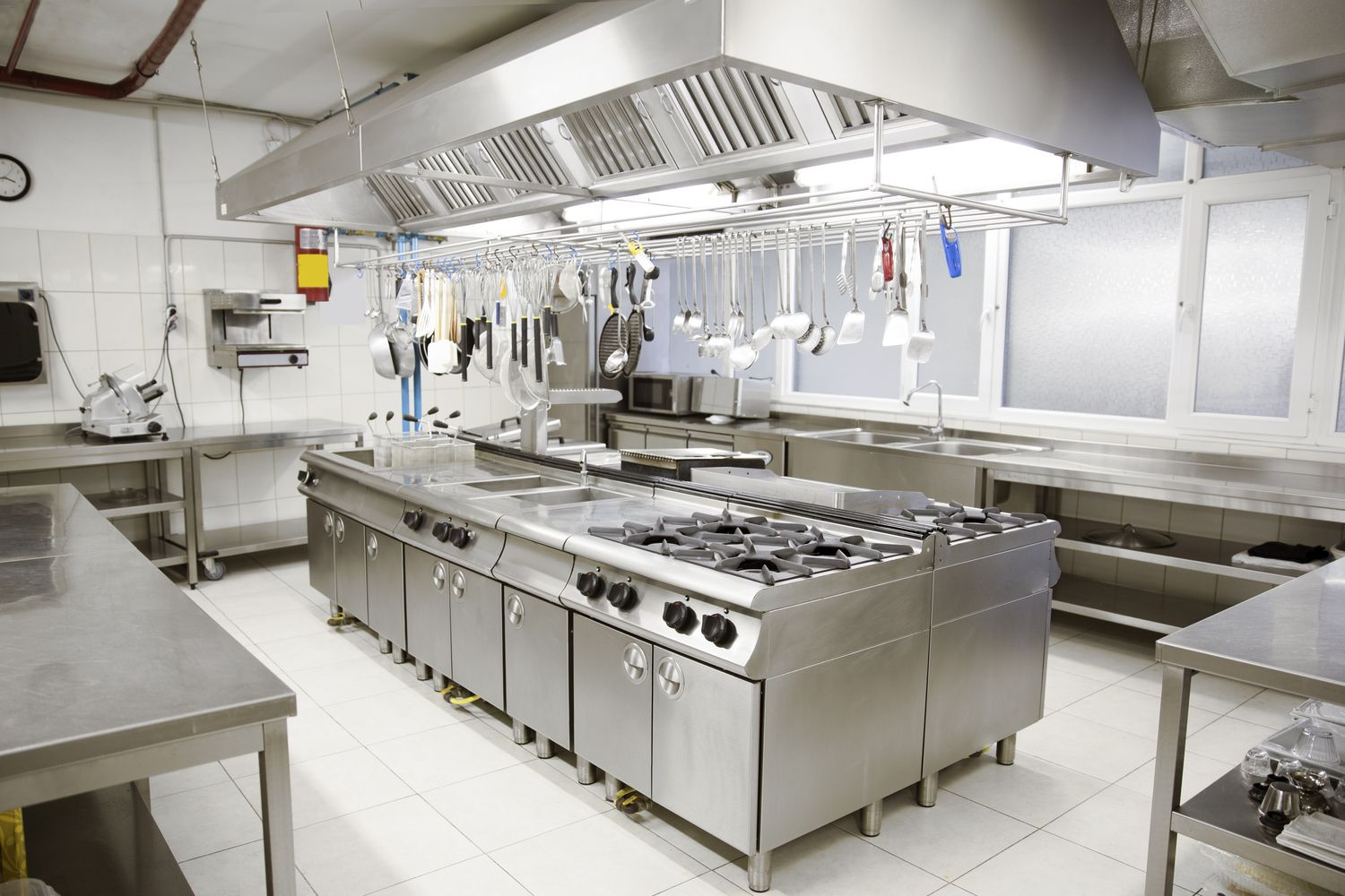Image result for commercial kitchen  industrial chic