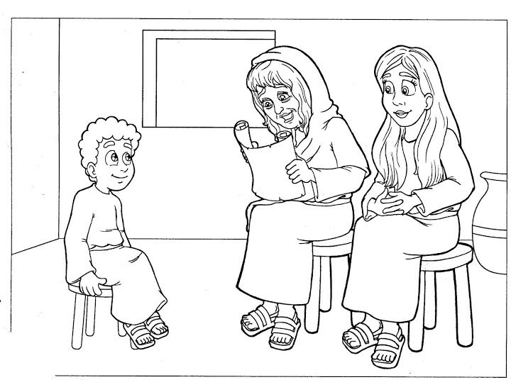 Timothy Eunice Lois Colouring Pages Sketch Coloring Page