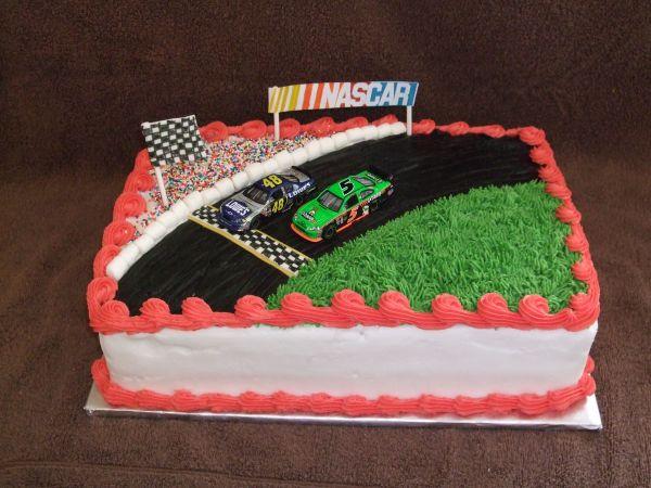 Nascar - Birthday Cake Fan Decorating