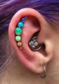 100+ Opal Ear Piercing Jewelry Ideas | Cartilage earrings ...
