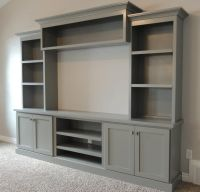 family room with large painted entertainment center - Bing ...