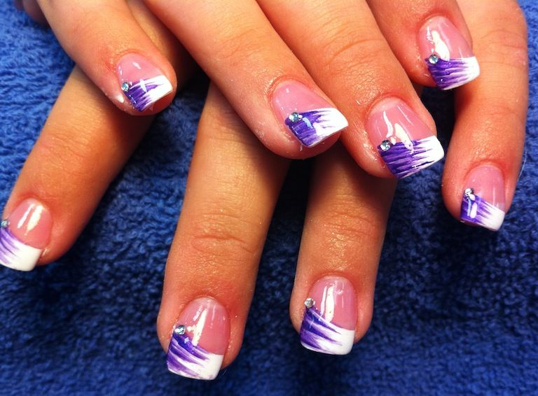 Purple French Tip Nail Designs