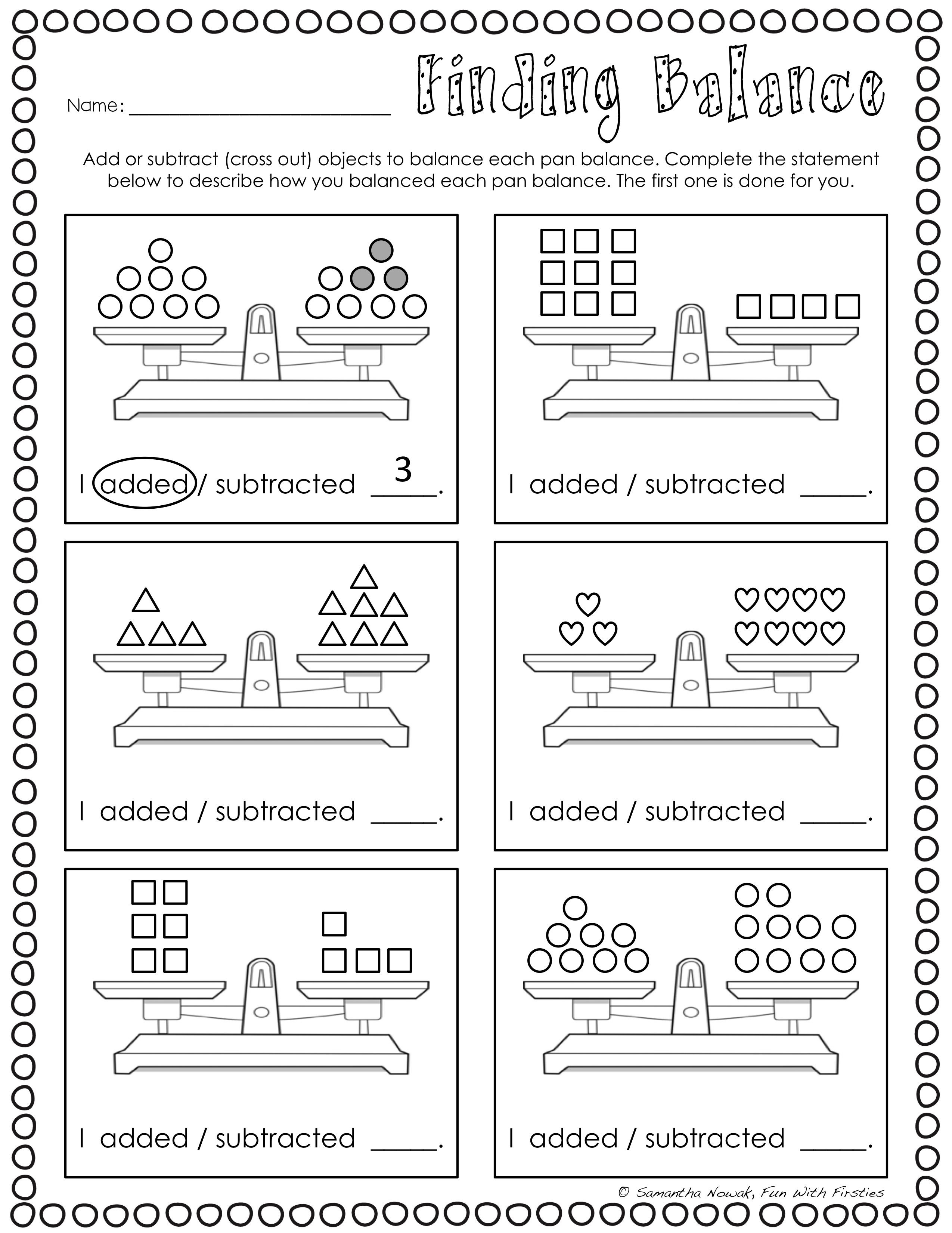 Balancing Equations Print Amp Go Worksheets For Extra