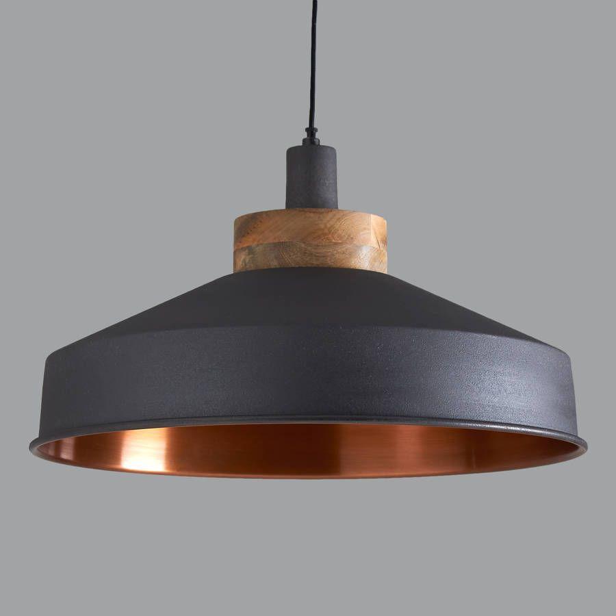 Cosmos Graphite And Copper Pendant Light