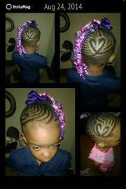 heart shape cornrow design