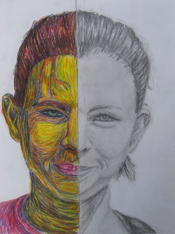 And -portrait. Draw Of Face In