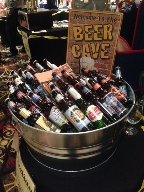 Beer Cave  Assorted craft beer silent auction basket