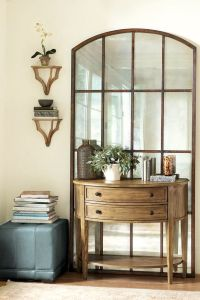 furniture trendy entryway console and mirror using half ...