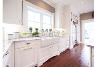 Classic contemporary kitchen style with maple cabinets ...