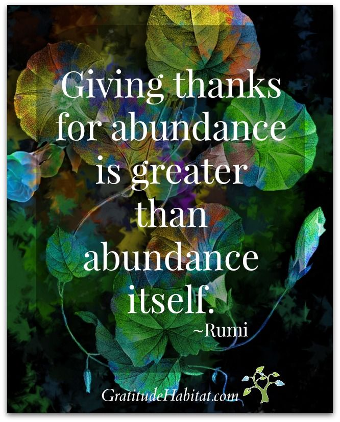 Rumi Quotes On Giving Thanks And Gratitude