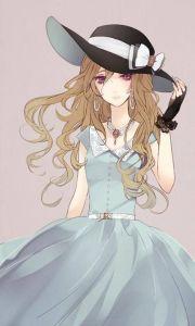 anime girl with curly hair - google