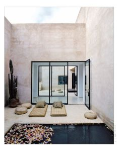 Walls courtyard pool house in marrakesh designed by interior designer esther gutmer and architect helena marczewski also beautiful clean lines color exteriors pinterest rh