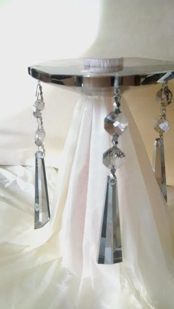1 Asfour Satin Grey Bobeche With Drops Lead Crystal Chandelier Parts Products Pinterest