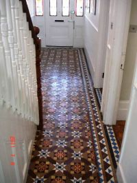 Victorian Tile Hallway floor after cleaning and sealing by ...