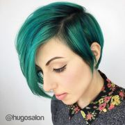 teal green hair color painted over