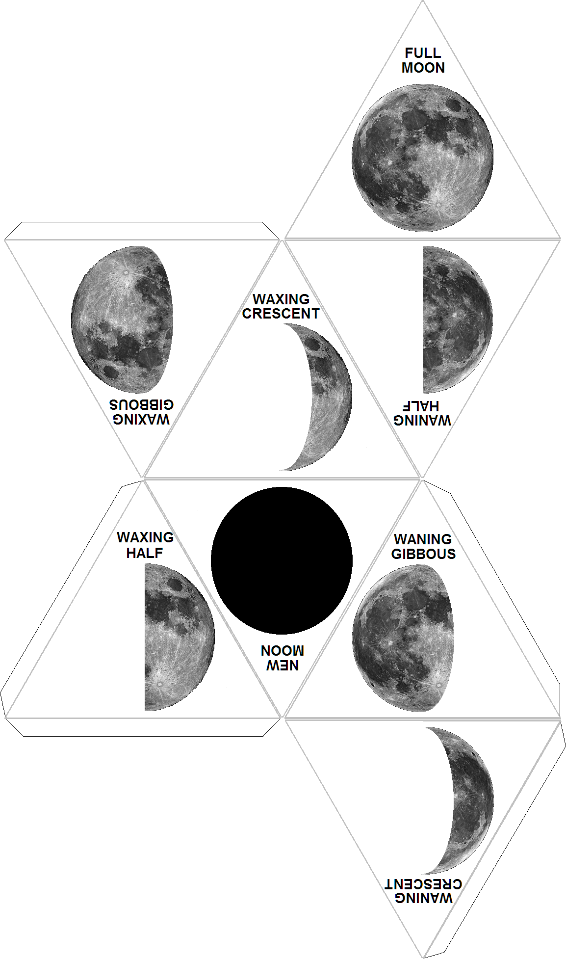 Create Moon phases foldable. Leave off the names and have