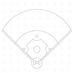 Softball Diamond Diagram 12v Wiring Symbols Baseball Field Clip Art Free More At Recipins Sports