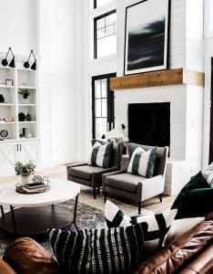 Love the look of this just wouldn   have chairs directly in front decor interior designinterior design inspirationinterior also rh pinterest
