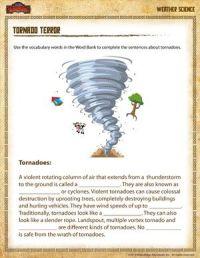 Tornado Terror - Free 4th Grade Science Worksheet ...
